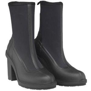 NWOB Hunter High Heel Sock Rain Boot Black Size 7